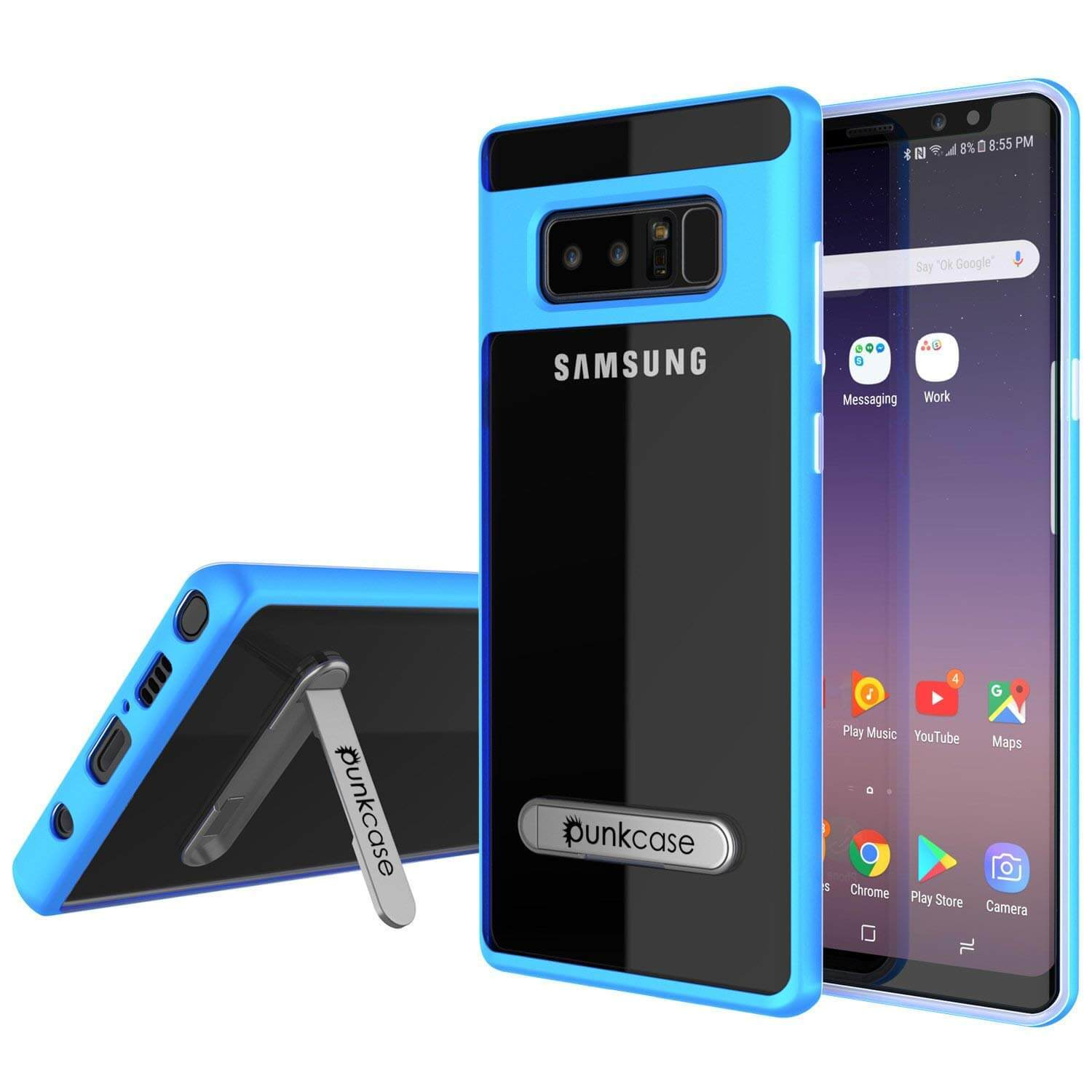 Galaxy Note 8 Case, Punkcase [LUCID 3.0 Series] Armor Cover [BLUE]