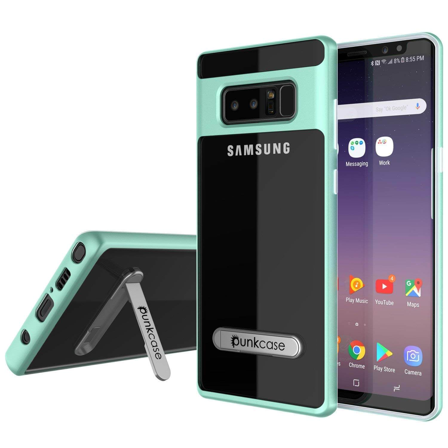 Galaxy Note 8 Case, Punkcase [LUCID 3.0 Series] Armor Cover [TEAL]