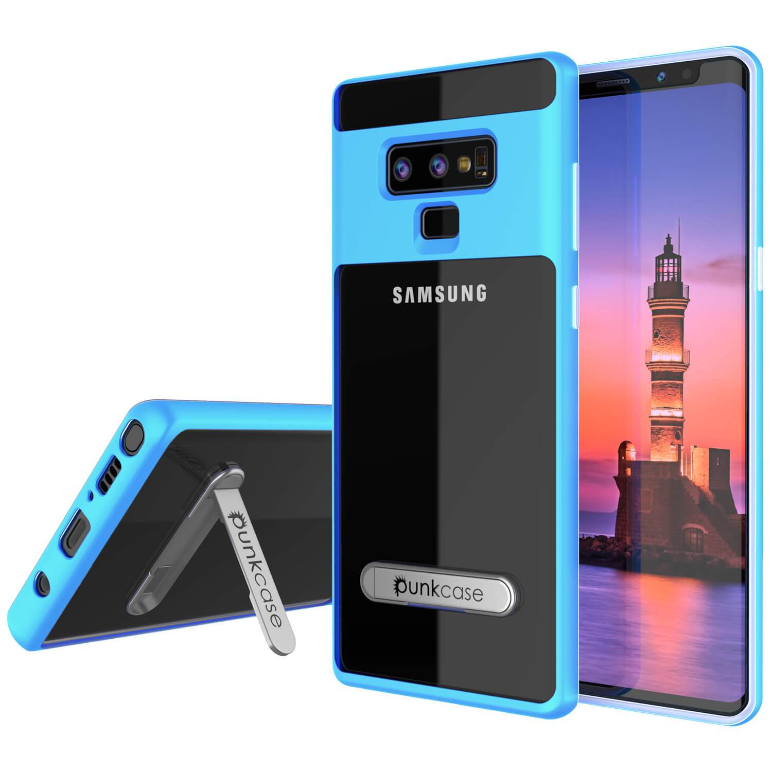 Galaxy Note 9 Lucid 3.0 PunkCase Armor Cover w/Integrated Kickstand and Screen Protector [Blue]