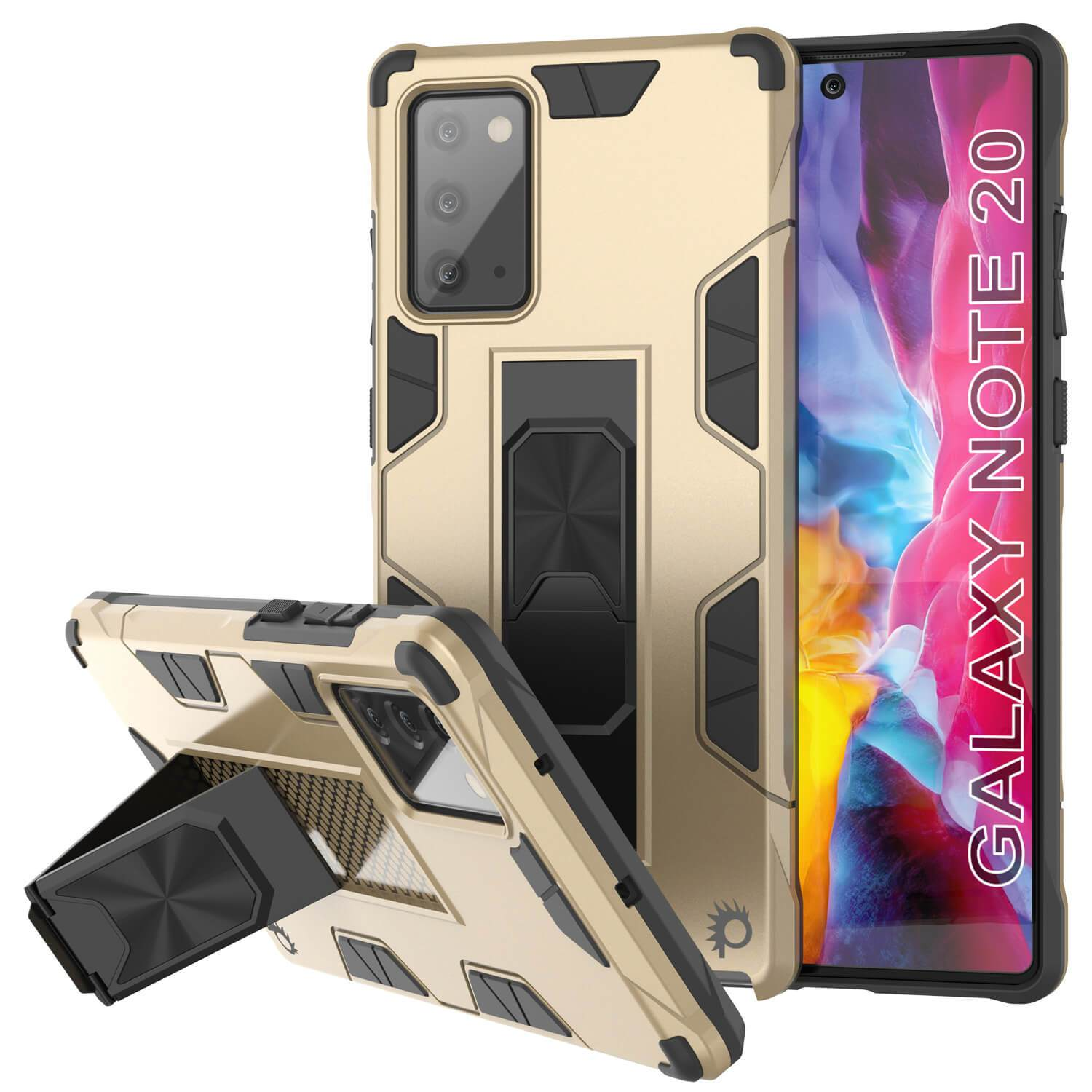Punkcase Note 20 Case [ArmorShield Series] Military Style Protective Dual Layer Case Gold