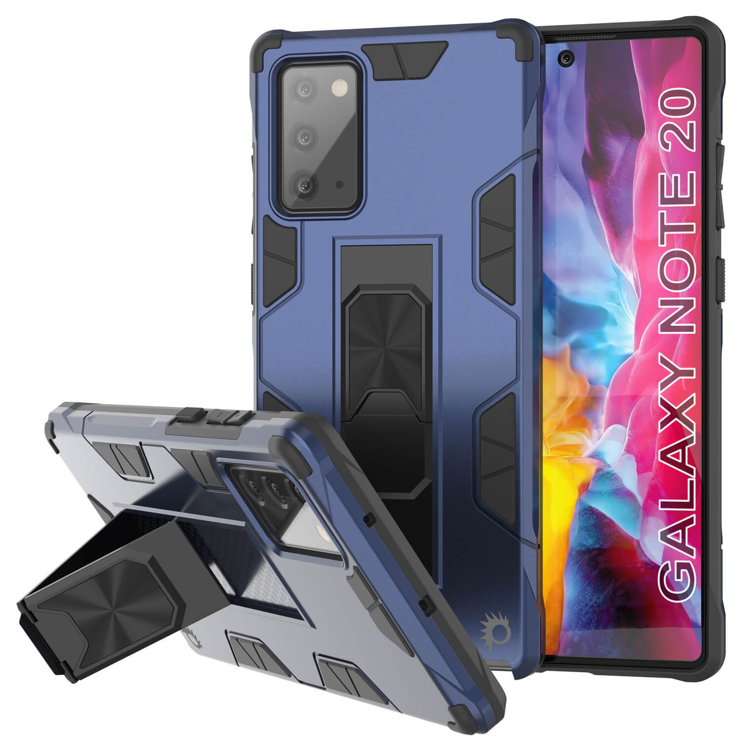 Punkcase Note 20 Case [ArmorShield Series] Military Style Protective Dual Layer Case Navy-Blue