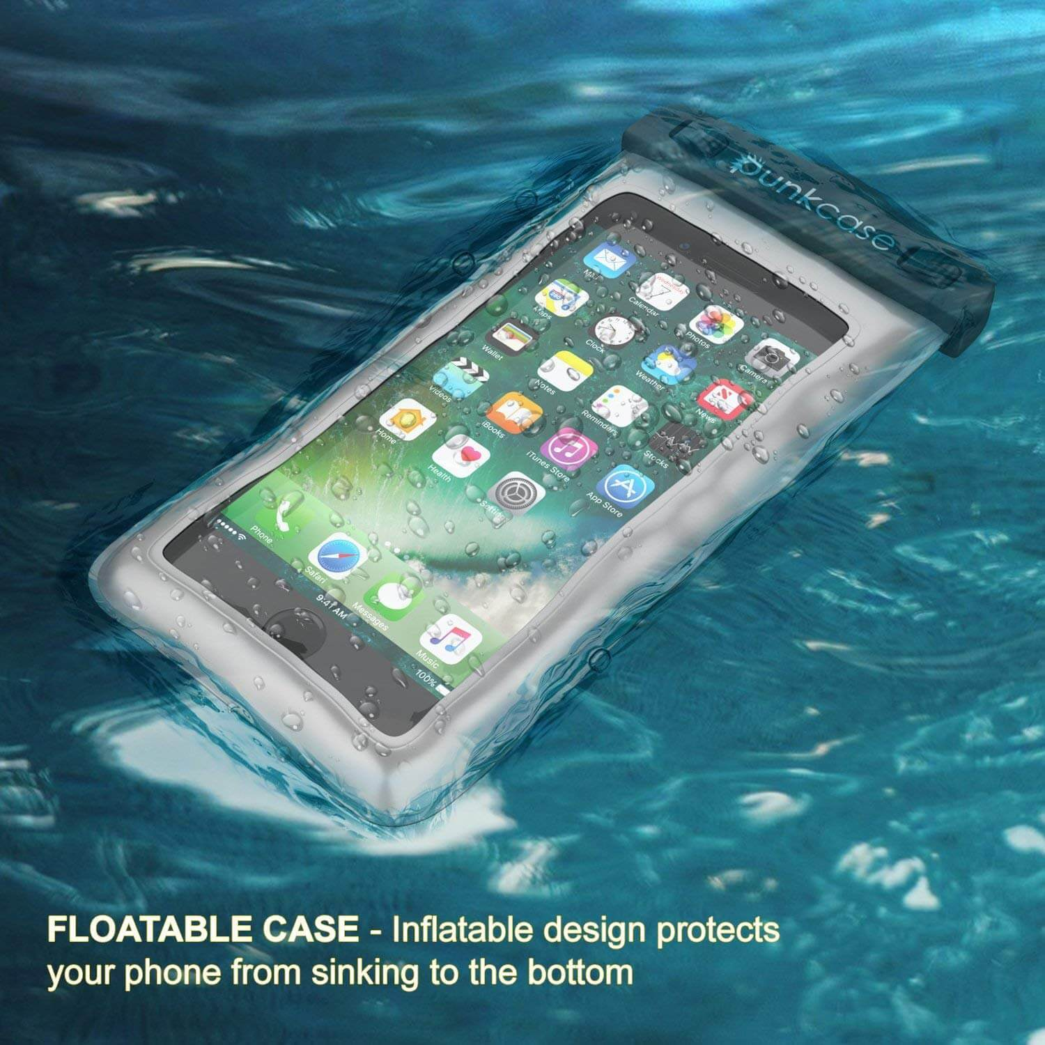 more photos ab7a9 133aa Waterproof Phone Pouch, PunkBag Universal Floating Dry Case Bag for most  Cell Phones [Clear]