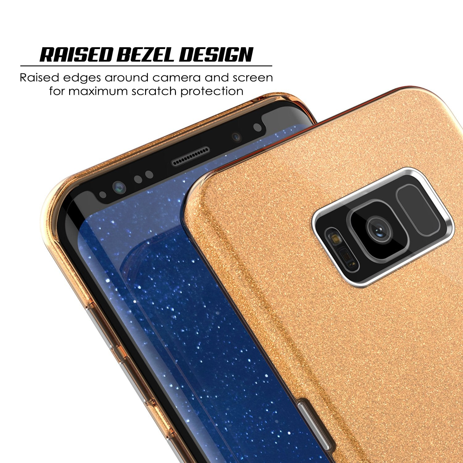 Galaxy S8 Case, Punkcase Galactic 2.0 Series Ultra Slim Protective Armor Cover [Gold]