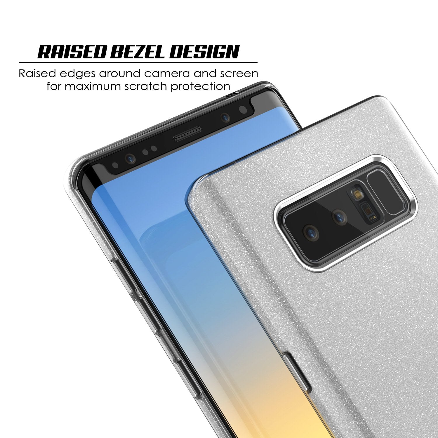 Galaxy Note 8 Case, Punkcase Galactic 2.0 Series Ultra Slim [Silver]