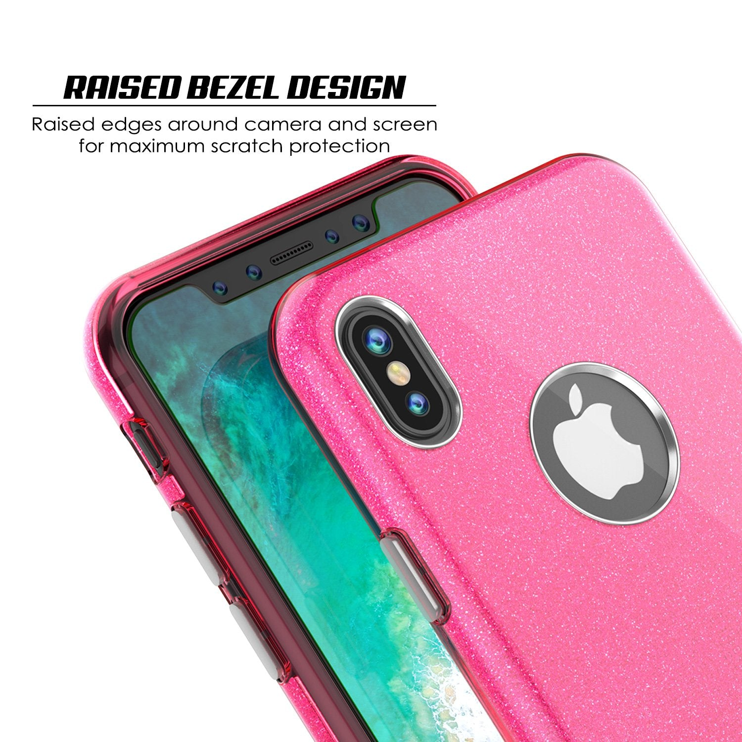 iPhone X Case, Punkcase Galactic 2.0 Series Ultra Slim Cover [Pink]