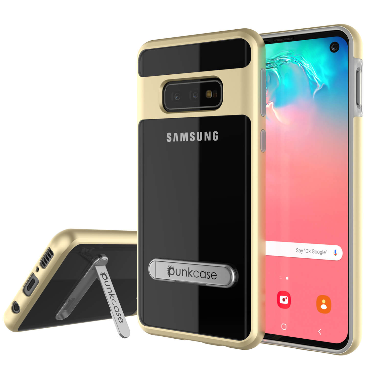 Galaxy S10e Case, PUNKcase [LUCID 3.0 Series] [Slim Fit] Armor Cover w/ Integrated Screen Protector [Gold]