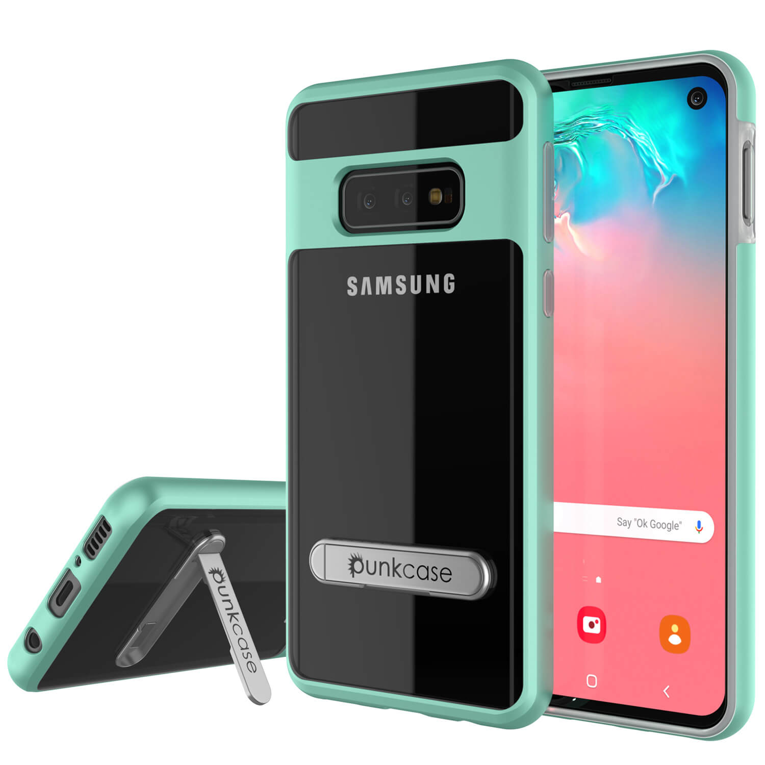 Galaxy S10e Case, PUNKcase [LUCID 3.0 Series] [Slim Fit] Armor Cover w/ Integrated Screen Protector [Teal]