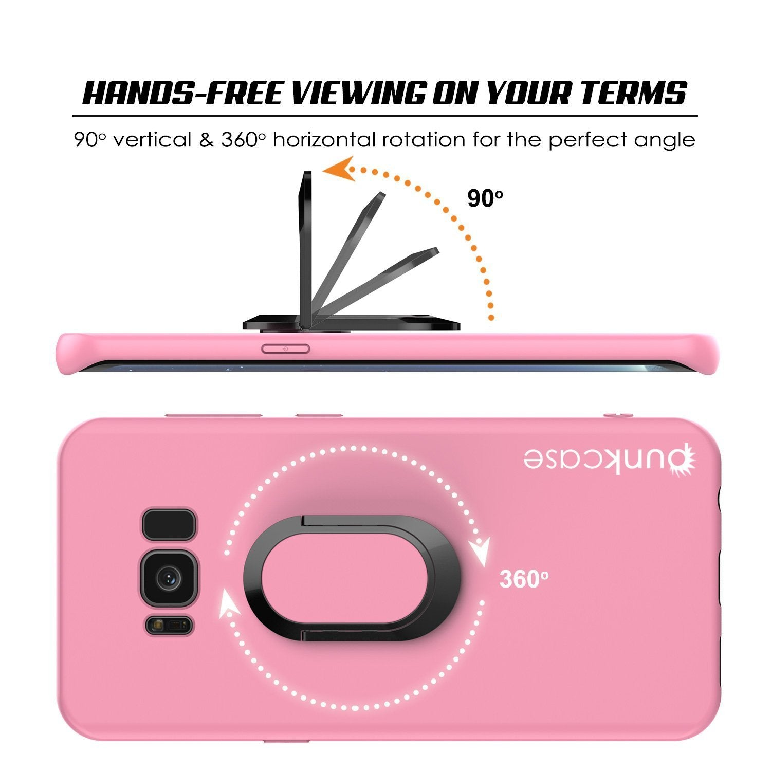Galaxy S8 Plus, Punkcase Magnetix Protective Case W/ Kickstand, Pink