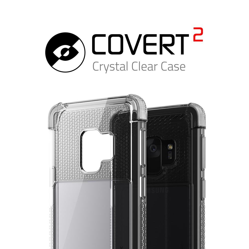 Galaxy S9 Clear Protective Case | Covert 2 Series [White]