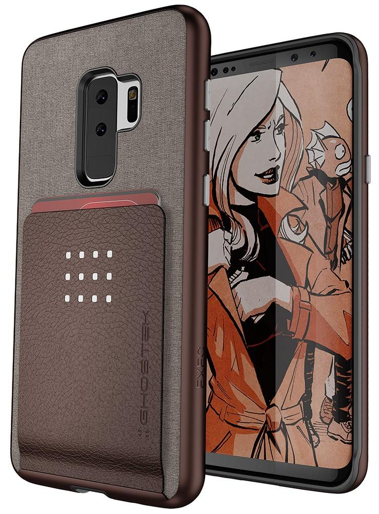 Galaxy S9+ Protective Wallet Case | Exec 2 Series [Brown]