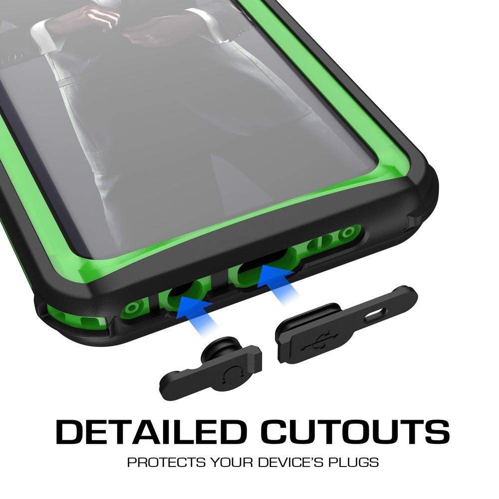 Galaxy S9+ Plus Rugged Waterproof Case | Nautical Series | [Green]