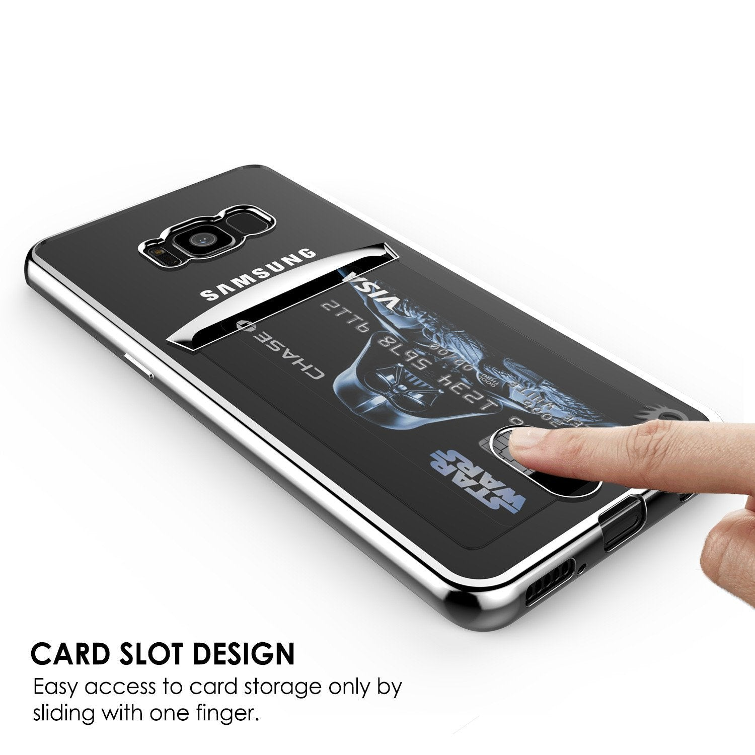 Galaxy S8 Plus Case, PunkCase LUCID Silver Series Screen Protector