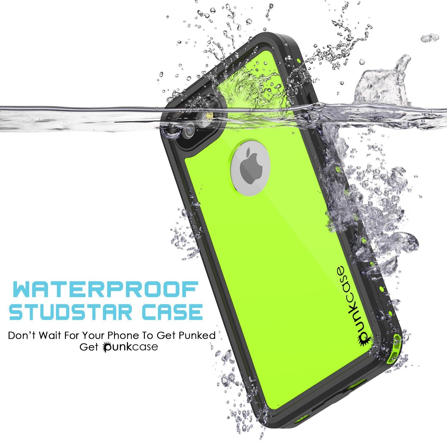 iPhone 7 Waterproof Case, Punkcase [Black] [StudStar Series] [Slim Fit] [IP68 Certified] [Shockproof] [Dirtproof] [Snowproof] Armor Cover for Apple iPhone 7 & 7s