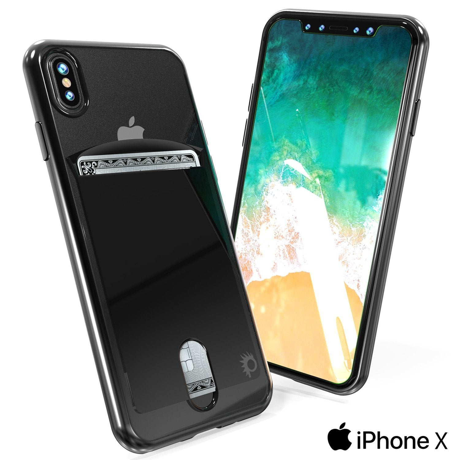 iPhone X Punkcase, LUCID Series Slim Fit Protective Dual Layer [Black]