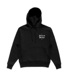 BLACK SMALL LOGO EMBROIDERED HOODIE