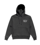 GREY SMALL LOGO EMBROIDERED HOODIE