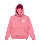 PINK SMALL LOGO EMBROIDERED HOODIE