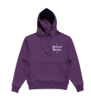 PURPLE SMALL LOGO EMBROIDERED HOODIE