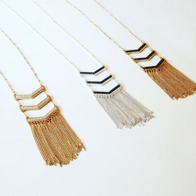 Long Arrow Necklaces.