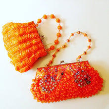 Orange Jeweled Tiny Purse