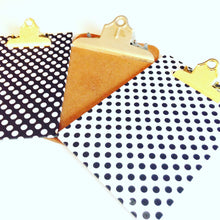 Black and White Polka Dot Mini Clipboards