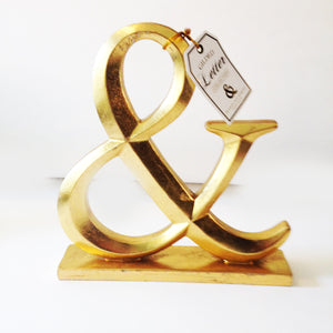 Gold Gilded Wood Ampersand