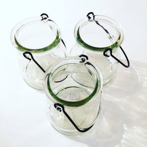 Tiny Tea Light Glass Lanterns