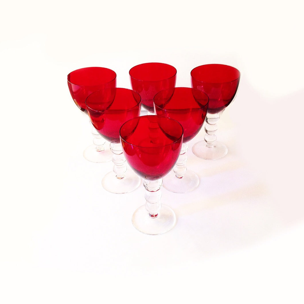 Festive Red Wine Glasses