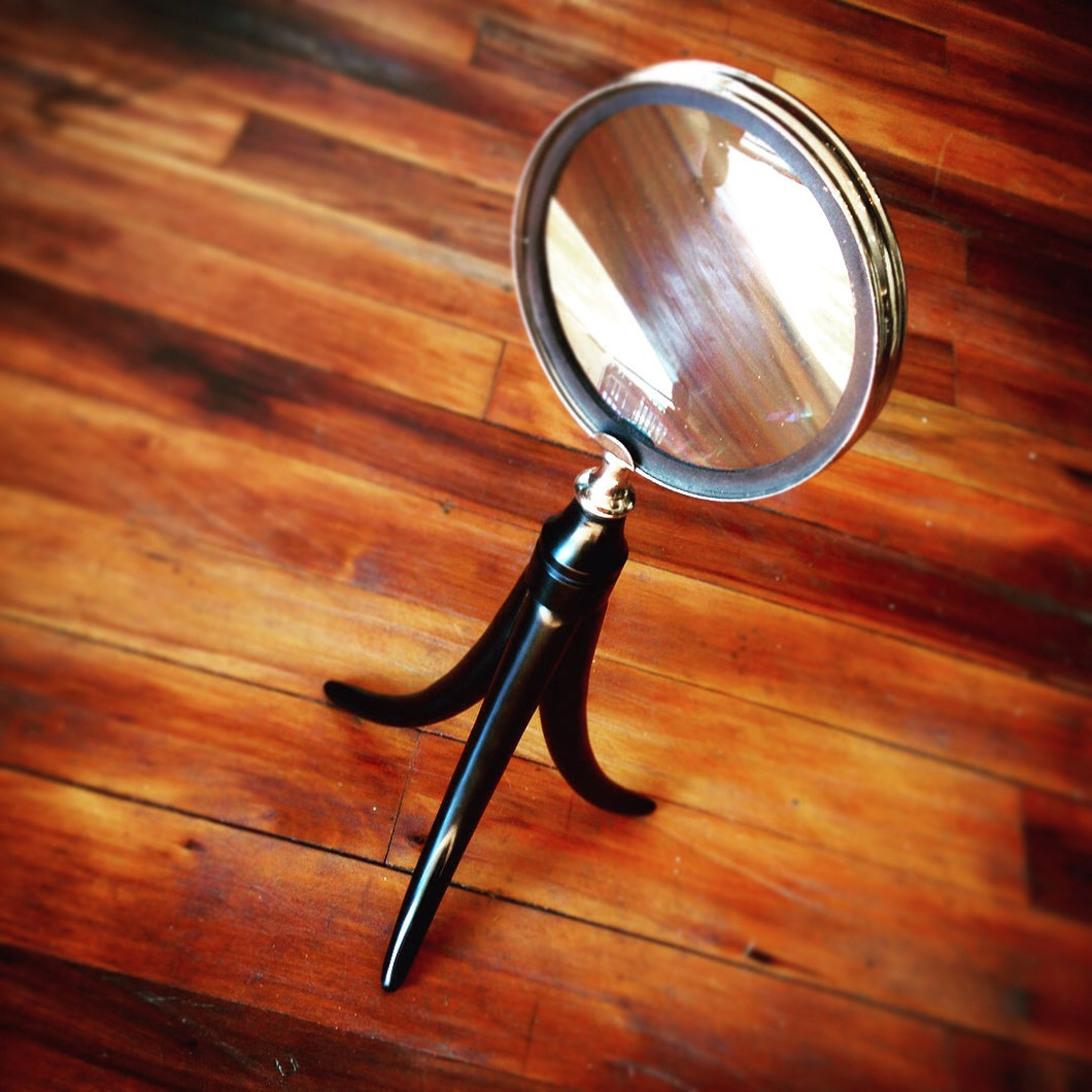 Magnifying Glass With Horn / Antler Handle