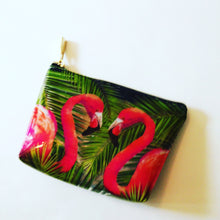 Flamingo Clear Zipper Pouch