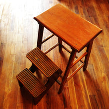 Vintage Wood Step Stool Seat