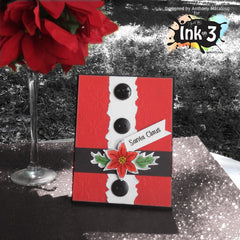 Card Example using the Poinsettia and  the Merry & Bright stamp set by Anthony ~ inkon3.com