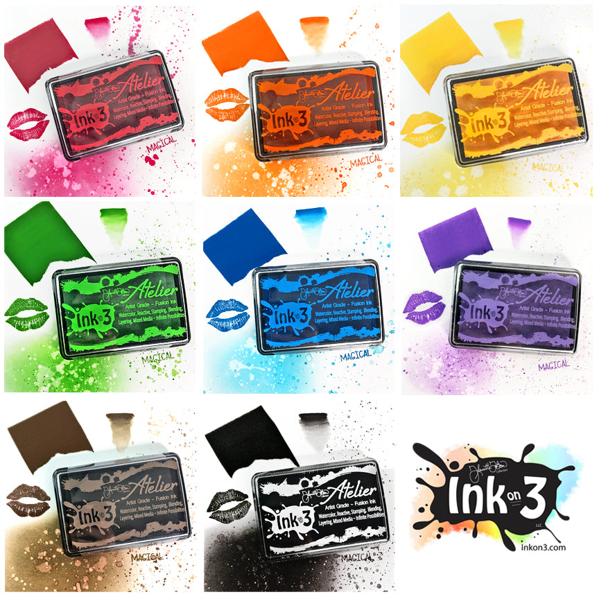 Atelier ~ Artist Grade Fusion Ink ~ Full Collection ~ Fleurette inkon3.com