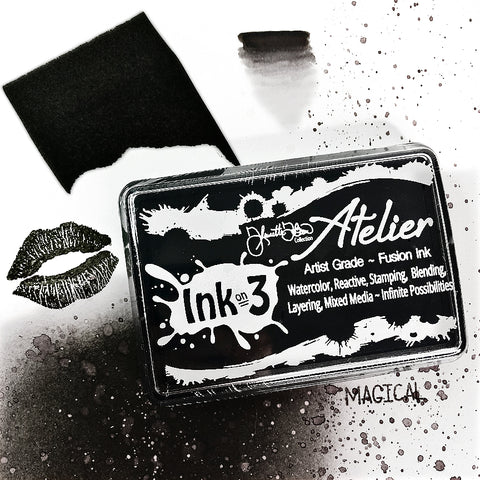 Atelier Watercolor / Re-inker Paint It Black ~ Artist Grade Fusion Ink