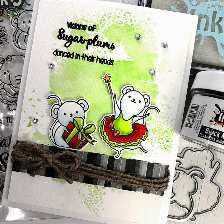 Card By Fleurette~ Dance & Twirl stamps & Dies