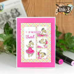 Card by Cheryl~ Dance & Twirl stamps & Dies