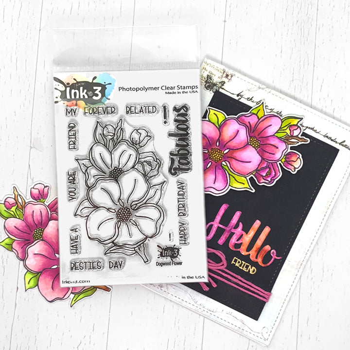 Dogwood Flower 3x4 Clear Stamp Set In On 3