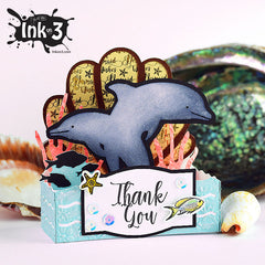 Box card includes everything in photo, except for: Thank You, starfish and front colored fish stamps.