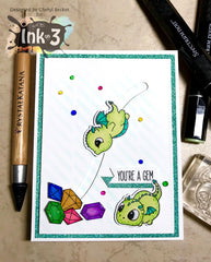 Magic DragonsClear Stamps Card Example by DT Cheryl