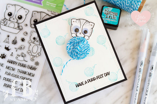 Card Example by Ilda ~ using Purr-ific Kitty Cats Stamp Set