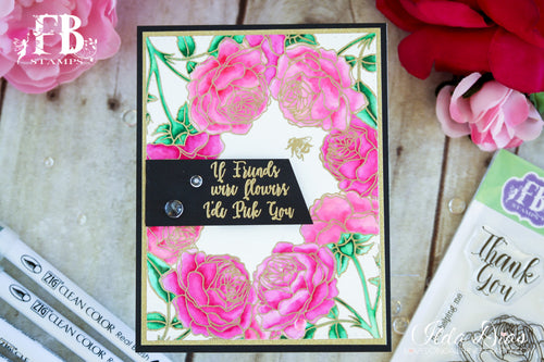 Card Example by Ilda ~ using Roses In Bloom Stamp Set