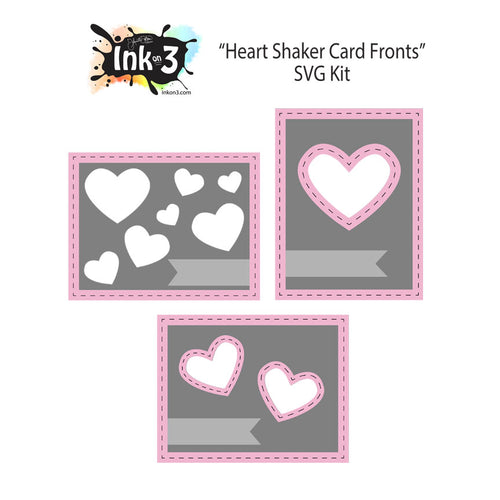 Heart Shaker Card Front  Digital Die Cuts inkon3.com