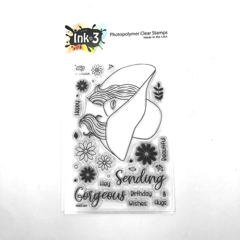 Gerbera Daisy 4x6 Stamp Set