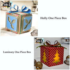 Holly Days One Piece Boxes, 3D SVG Cut Files