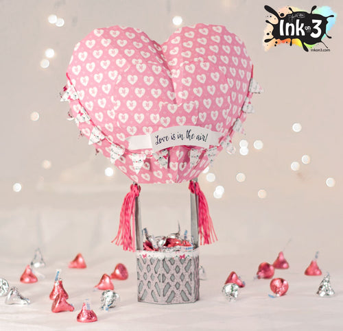 Heart Hot Air Balloon 3D SVG Kit
