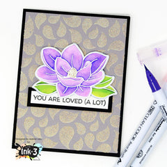 Card Example by Jeannie - using Big Bold Magnolias clear stamps by inkon3.com Ink On 3