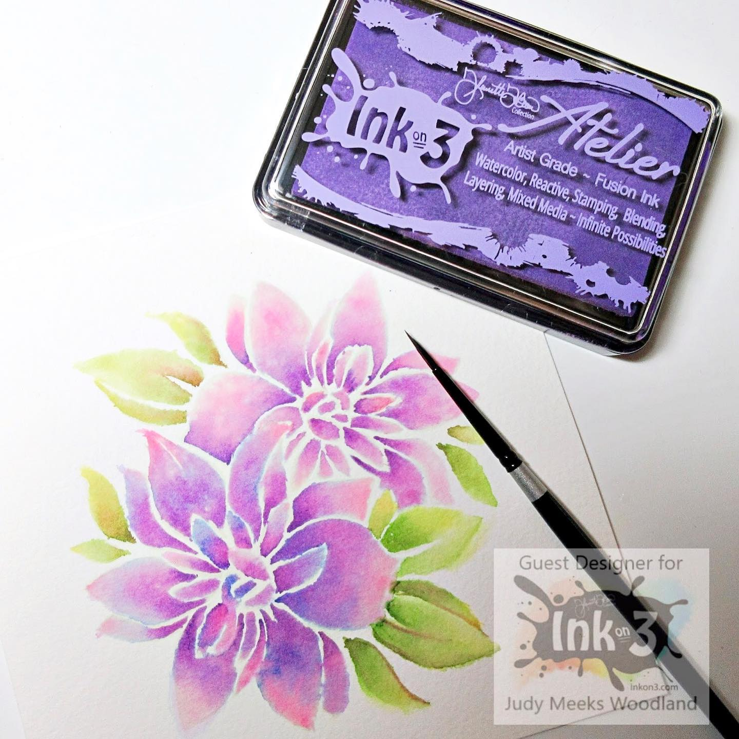 Flora Stencil ~ Featured on Jennifer MCguire My Favorite Crafty Things