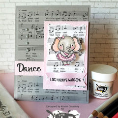 Card By Kristin ~ Dance & Twirl stamps & Dies