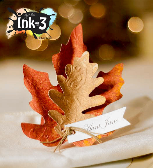 Leaf Place Card Setting SVG Cut files