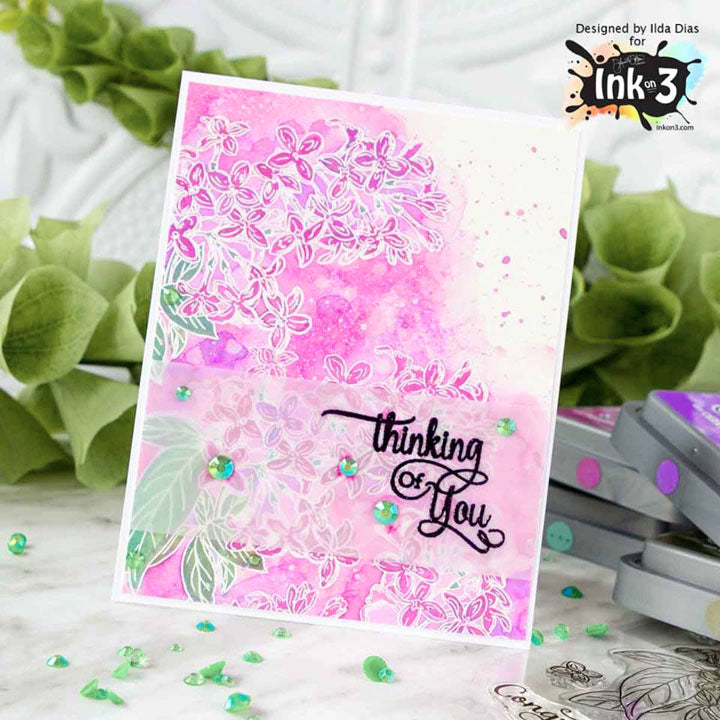 Card using Lilac Dreams 4x6 stamp set by ~ Ilda